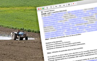 Utilisation de pesticides dans les lieux sensibles – Lettre au Conseil Communal